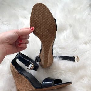 Gucci Shoes - Brand new Gucci navy blue wedges